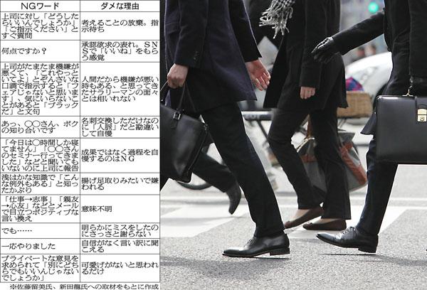 """""""意識高い系""""がにじみ出る(C)日刊ゲンダイ"""