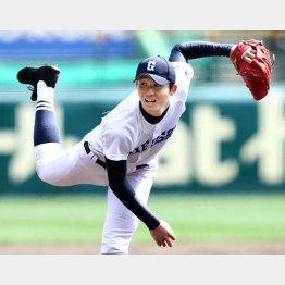 150キロをマークした県岐阜商の高橋純平投手