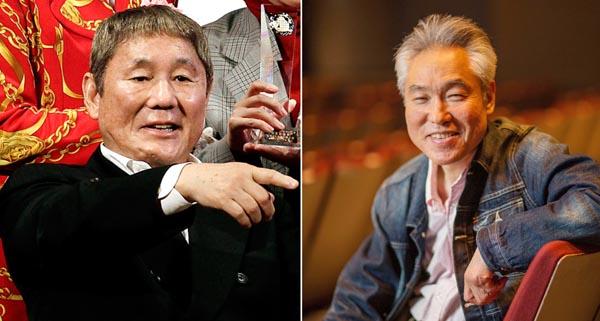 北野武監督(左)とモロ師岡さん(C)日刊ゲンダイ