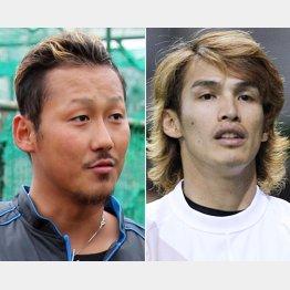 中田翔(左)と陽岱鋼