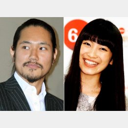 松山ケンイチ(左)と13年の紅白に初出場したmiwa(C)日刊ゲンダイ
