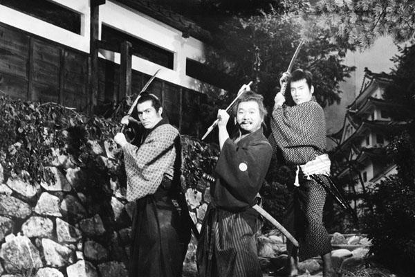 「三匹の侍」 左から加藤剛、長門勇、平幹二朗(C)フジテレビ
