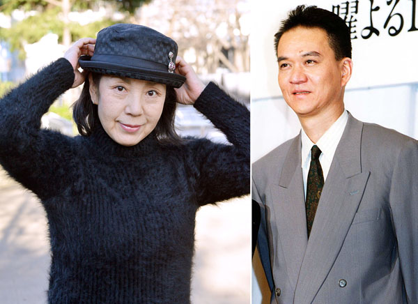 鹿沼絵里さん(左)と亡き夫の俳優・古尾谷雅人さん/(C)日刊ゲンダイ