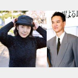 鹿沼絵里さん(左)と亡き夫の俳優・古尾谷雅人さん