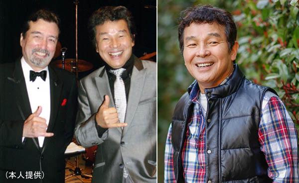 尾藤イサオ(右)、左は尾崎紀世彦との2ショット/(C)日刊ゲンダイ