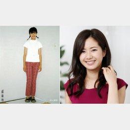 女優になるきっかけとなった写真(左)/(C)日刊ゲンダイ