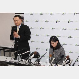 交際を否定した家城氏(左)と上西議員/(C)日刊ゲンダイ