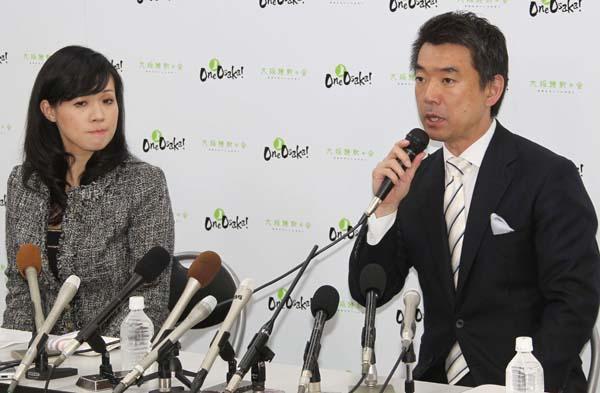 橋下氏(右)にはしたたかな計算が(C)日刊ゲンダイ