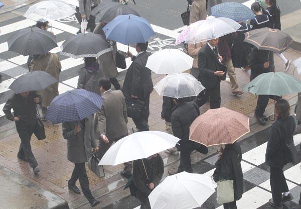 都内で4月降雪は5年ぶり(C)日刊ゲンダイ