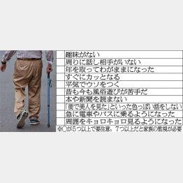 老人の痴漢度チェックリスト(写真はイメージ)/