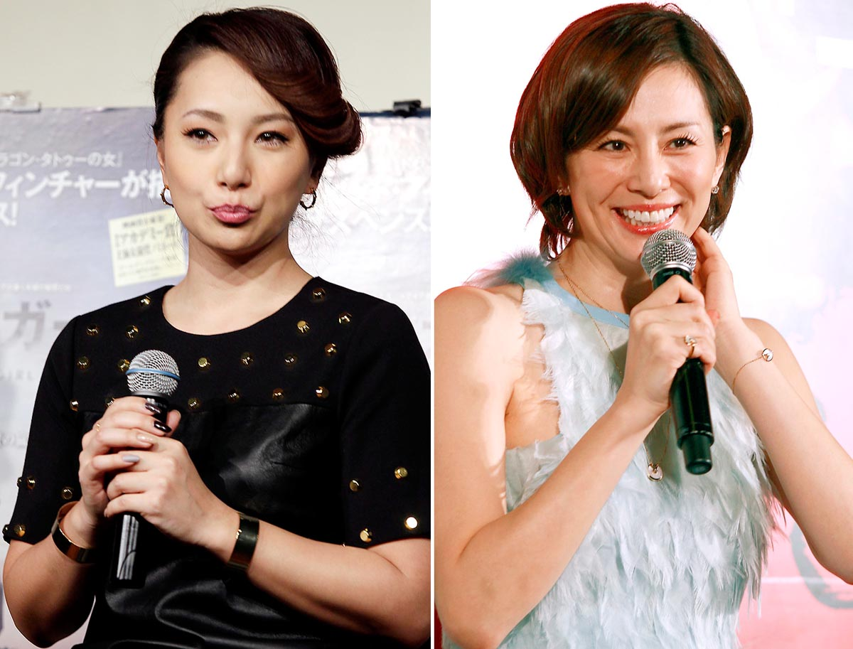 離婚係争中の三船美佳(左)と離婚が噂される米倉涼子(C)日刊ゲンダイ