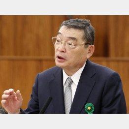 籾井会長はいつまで居座れるか(C)日刊ゲンダイ