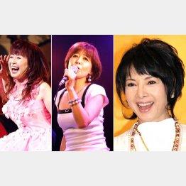大場久美子と石野真子、右は元祖・由美かおる