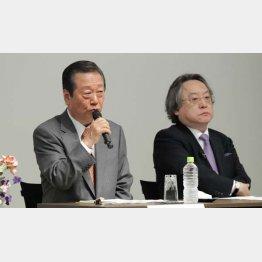 小沢一郎氏(左)と小林節氏