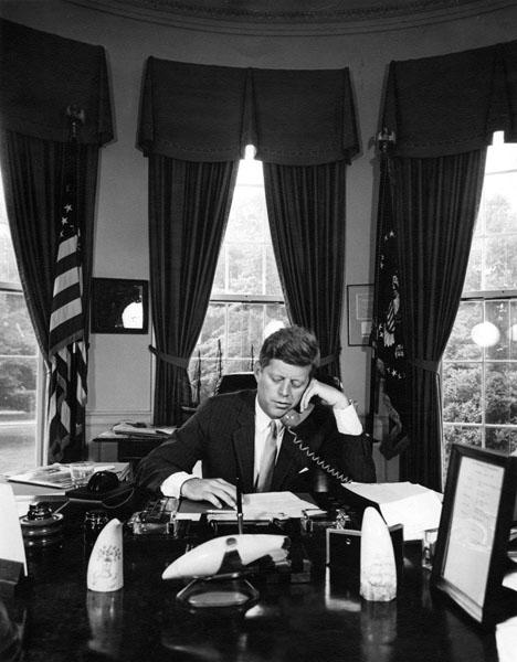 大統領執務室(1962年、ジョン・F・ケネディ大統領図書館・博物館)