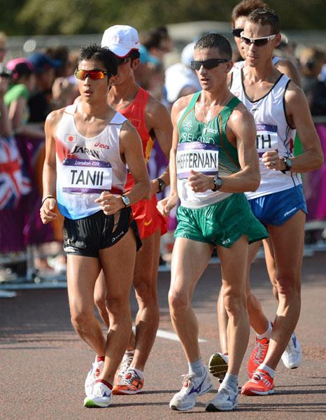 ロンドン五輪男子50キロ競歩(左は谷井孝行)(C)JMPA