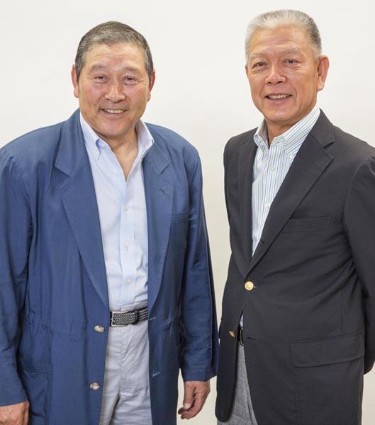 高橋義正氏(左)と山崎裕之氏(C)日刊ゲンダイ