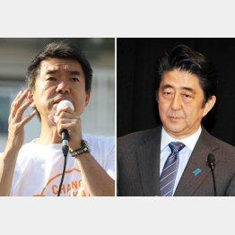 橋下市長と安倍首相(C)日刊ゲンダイ