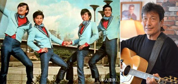 「シャープ・ホークス」時代の写真は左端が本人、右端は故・安岡力也(C)日刊ゲンダイ