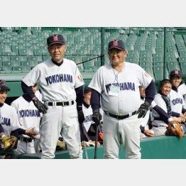 08年甲子園・渡辺監督(左)と小倉氏(C)日刊ゲンダイ