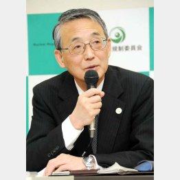原子力規制委員会の田中俊一委員長(C)日刊ゲンダイ