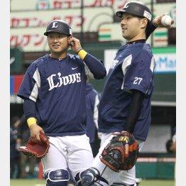 森(左)と炭谷(右)/(C)日刊ゲンダイ