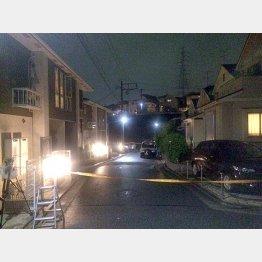 閑静な住宅街で悲劇は起きた(C)日刊ゲンダイ