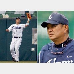 森友哉(左)と袴田ヘッド兼バッテリーコーチ