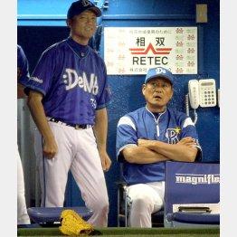 タイプは対照的な中畑監督(右)と川村コーチ(C)日刊ゲンダイ