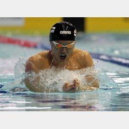 平泳ぎ決勝で5位に終わった北島