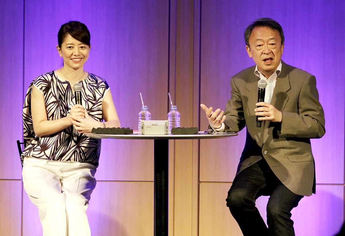 池上彰(右)と草野満代(C)日刊ゲンダイ