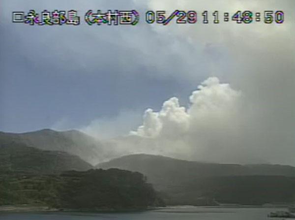 5月29日に噴火した口永良部島(気象庁HPから)