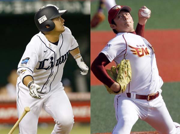 西武・森(左)と楽天・松井(右)は19歳(C)日刊ゲンダイ
