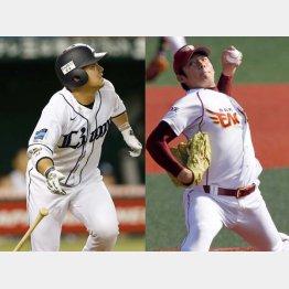 西武・森(左)と楽天・松井(右)は19歳