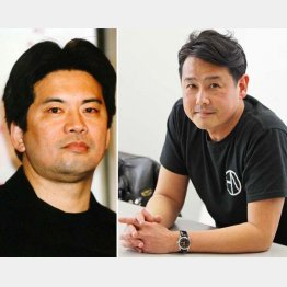 故・森田芳光監督と野村宏伸(C)日刊ゲンダイ
