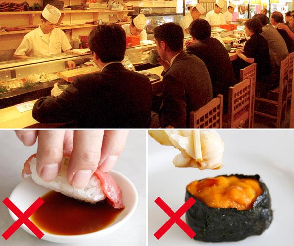 「寿司飯に醤油」も「ガリをハケ代わり」も行儀悪し(C)日刊ゲンダイ