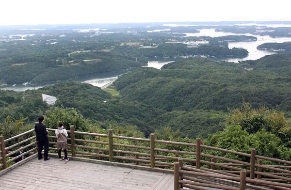 横山展望台から望む賢島(C)日刊ゲンダイ