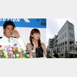 「海猿」の制作発表会見(2005年、左から伊藤英明、加藤あい)/(C)日刊ゲンダイ