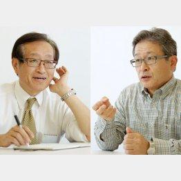 二木啓孝氏と江上剛氏(C)日刊ゲンダイ