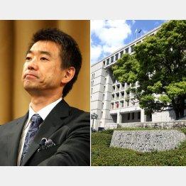 橋下市長と大阪市役所