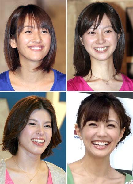 左上から時計回りに、前田有紀、市川寛子、小林麻耶、神田愛花(C)日刊ゲンダイ