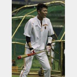 練習で坂本は笑顔だったが…