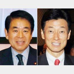 下村文科相と西村内閣府副大臣(C)日刊ゲンダイ