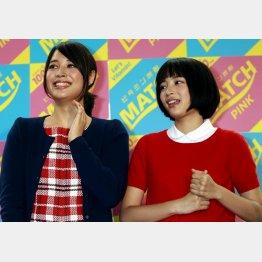 広瀬アリス(左)とすず姉妹は仲良し(C)日刊ゲンダイ