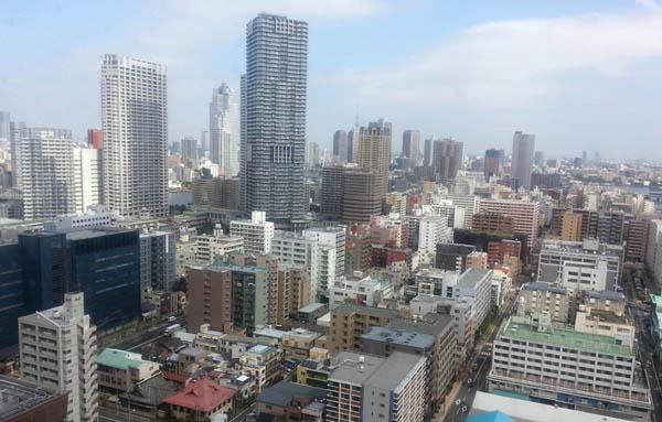 マンション建設が進む東京・中央区晴海周辺(C)日刊ゲンダイ