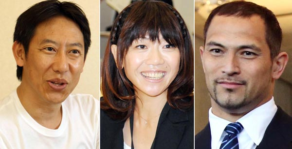 新役員の鈴木大地、高橋尚子、室伏広治の3氏は40代だが…(C)日刊ゲンダイ