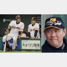 阿部を指導する村田コーチ(右は斎藤コーチ)/(C)日刊ゲンダイ
