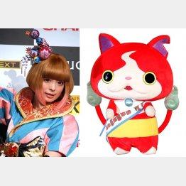 きゃりーぱみゅぱみゅ(左)とジバニャンも出演(C)日刊ゲンダイ