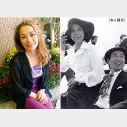 「Gメン'75」の撮影中に丹波哲郎さんと(本人提供)(C)日刊ゲンダイ