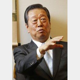 「法案通らなければ内閣総辞職」と小沢氏(C)日刊ゲンダイ